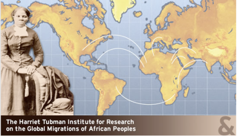 Logo for the Harriet Tubman Institute for Research on the Global Migrations of African Peoples at York University
