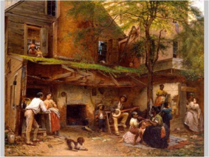 Negro Life in the South, Eastman Johnson, 1859, oil on canvas.  Source: New York Historical Society