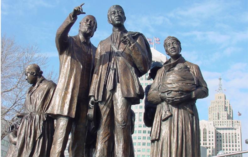 International Underground Railroad Memorial, Detroit, MI & Windsor, Canada / Ed Dwight