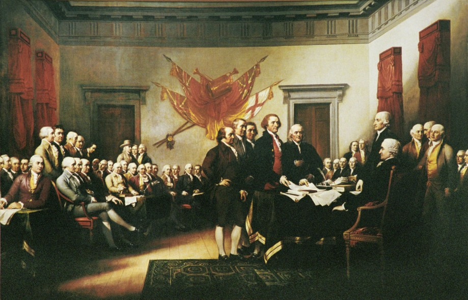 Trumbull, Declaration of Independence, 1817