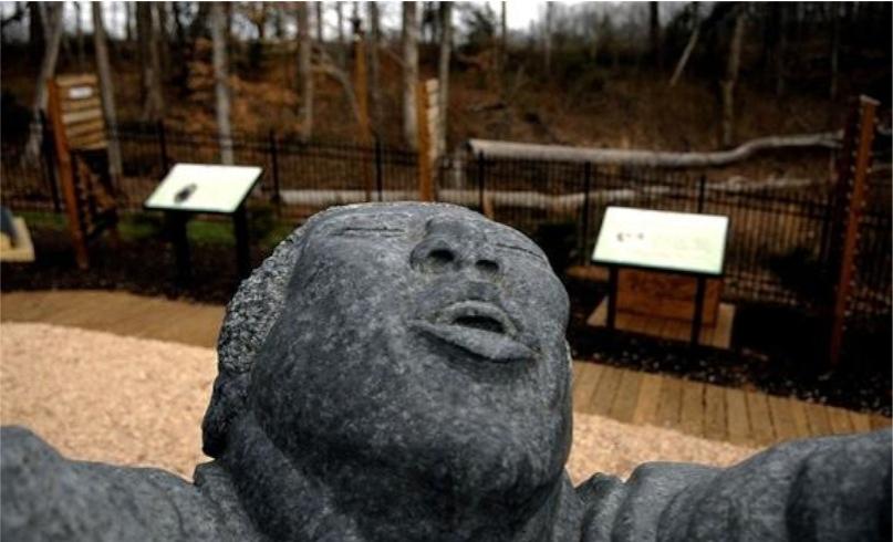 """Hallelujah"" Stone Sculpture"