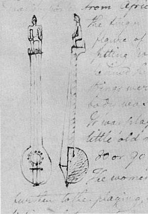 1819 Benjamin Latrobe Banjo Sketch
