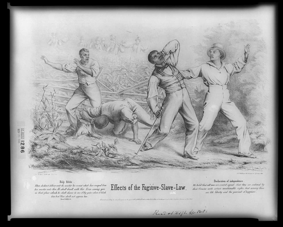 Caption: Effects of the Fugitive-Slave-Law. Hoff & Bloede New York, 1850 (Source: Library of Congress)    http://www.loc.gov/pictures/item/2008661523/