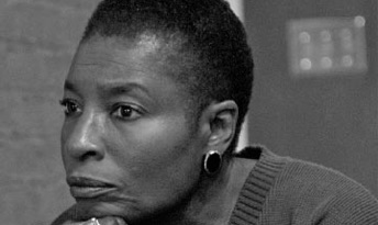 Hortense Spillers in thought while hosting a gathering of friends at her home on Riverside Drive in Nashville, Tennessee, Sunday evening, 15 October 2006.