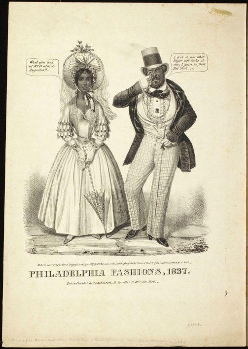 "Credit: ""Philadelphia fashions, 1837,"" Edward Williams Clay via Library Company of Philadelphia Print Dept. Political Cartoons http://bit.ly/2aabmhy"