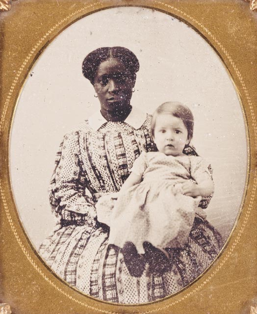 Lucy, ca.1845. Daguerreotype. Courtesy of Mason County Museum, Maysville, Kentucky (12)/ Lucy (1811–?) daughter of Lilly and Barnaby, was born on Monticello and was one of Thomas Jefferson's slaves sold at public auction at Monticello in January 1827. Lucy and her parents were among the slaves whom Jefferson leased to his grandson, Thomas Jefferson Randolph (1792–1875). This photograph was taken of Lucy in the mid 1840s.