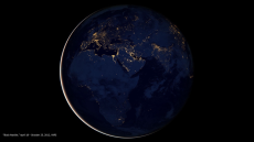 """""""City Lights of Africa, Europe and the Middle East"""" NASA Earth Observatory image by Robert Simmon, using Suomi NPP VIIRS data provided courtesy of Chris Elvidge (NOAA National Geophysical Data Center). Suomi NPP is the result of a partnership between NASA, NOAA, and the Department of Defense. Caption by Mike Carlowicz."""